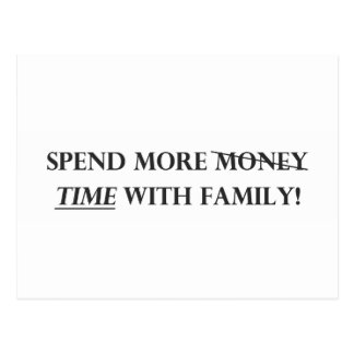 Spend More Time with Family.pdf Postcard