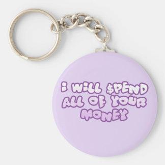 Spend Your Money Keychain