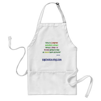 Spending 2 to 1 adult apron