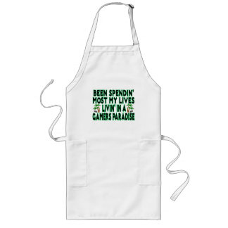 Spending Lives In Gamers Paradise Long Apron