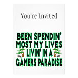 Spending Lives In Gamers Paradise Personalized Invite