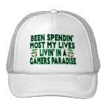 Spending Lives In Gamers Paradise Trucker Hats