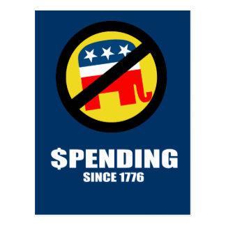 Spending since 1776 postcard