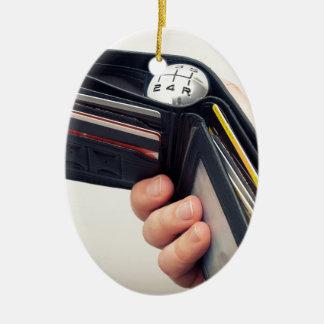 Spending speed ceramic ornament