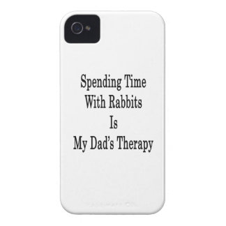 Spending Time With Rabbits Is My Dad's Therapy iPhone 4 Cases