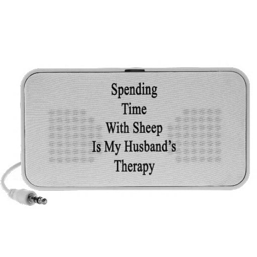 Spending Time With Sheep Is My Husband's Therapy iPhone Speakers