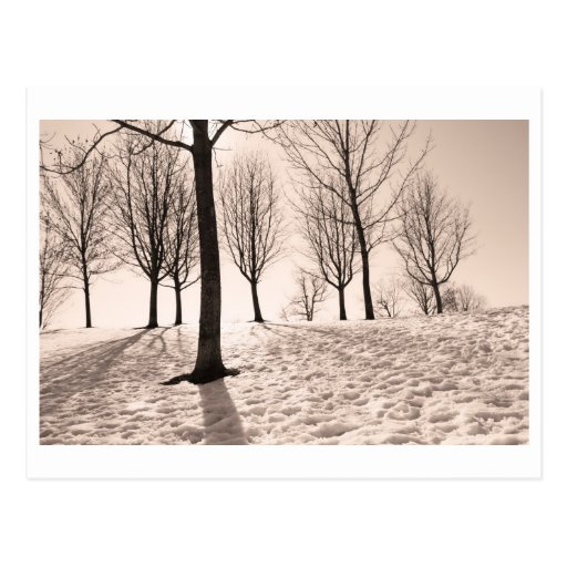spending winter postcards