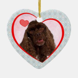 Spenser el corazón Ornamen de la tarjeta del día Adorno Navideño De Cerámica En Forma De Corazón