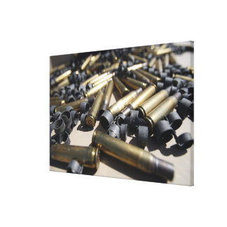 Spent brass and disintegrated links canvas print