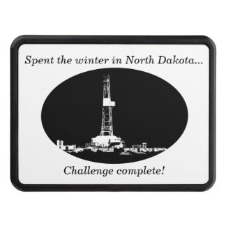 Spent the winter in ND…Challenge complete! Tow Hitch Cover