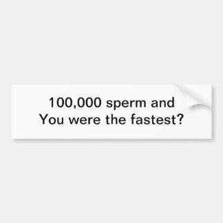 Sperm bumper sticker