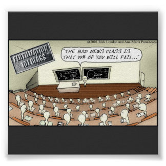 Sperm Class 101 Funny Poster
