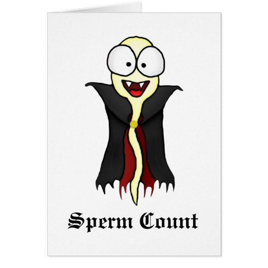Sperm Count Greeting Card