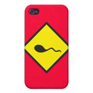 SPERM crossing iPhone 4 Cases