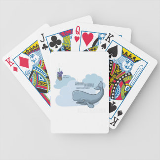 Sperm Whale and Bowl of Petunias Bicycle Playing Cards