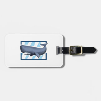 SPERM WHALE AND WATER TRAVEL BAG TAG