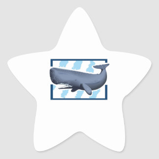 SPERM WHALE AND WATER STAR STICKERS