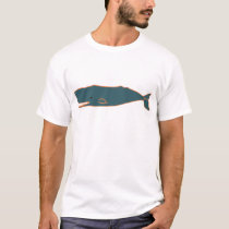 Sperm Whale - blue T-Shirt
