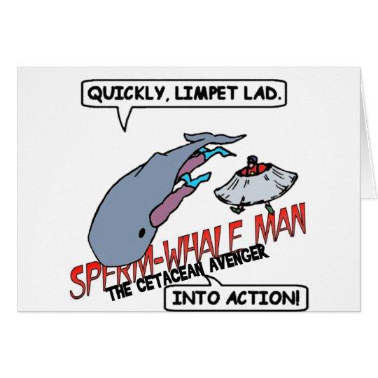 Sperm Whale Man Action Card