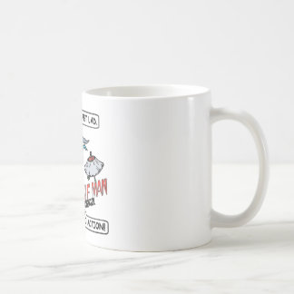 Sperm Whale Man Action Coffee Mug