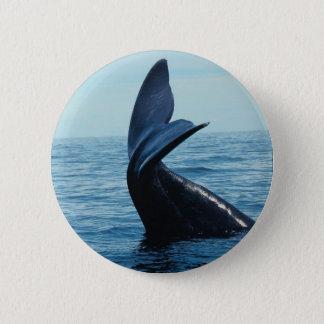 Sperm Whale Tail Pinback Button