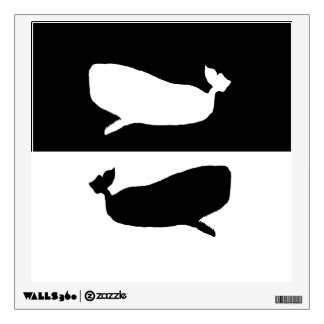 sperm whale wall decal