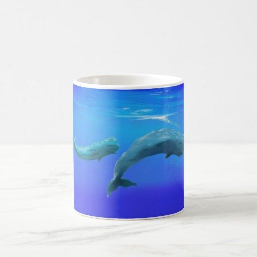 Sperm Whales Classic White Coffee Mug