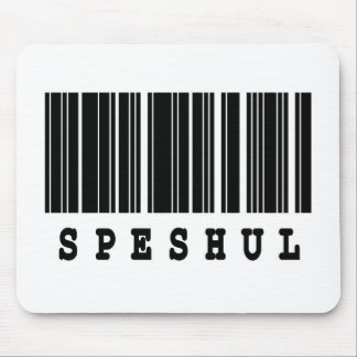 speshul barcode design mouse pad