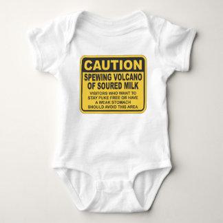 Spewing Volcano of soured milk Baby Bodysuit
