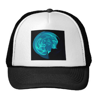 Sphere1, blue water orb, abstract trucker hat
