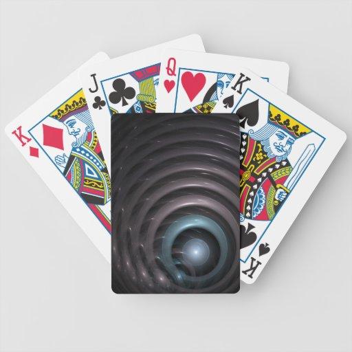 Sphere and rings bicycle card decks