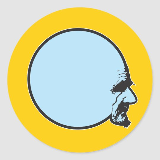 Sphere Head Classic Round Sticker