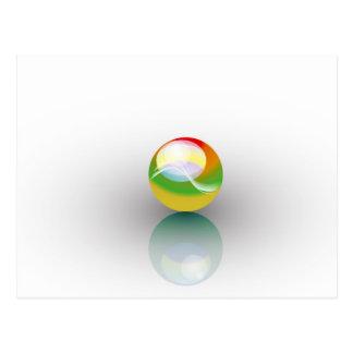 sphere multicolor postcard
