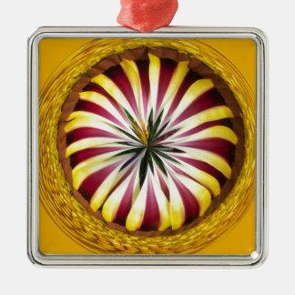 Sphere of Gazania Metal Ornament