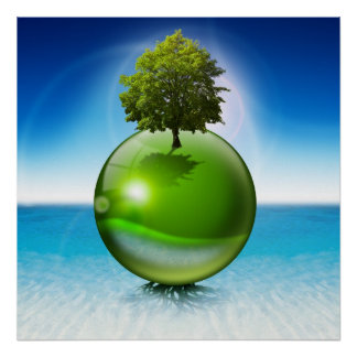 Sphere tree - ecology concept posters