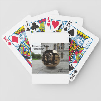 Sphere within sphere Dublin Ireland Bicycle Playing Cards