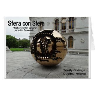 Sphere within sphere Dublin Ireland Card