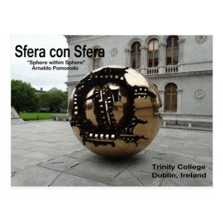 Sphere within sphere Dublin Ireland Postcard