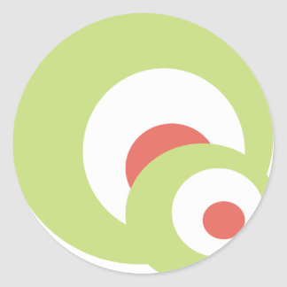 Spheres Classic Round Sticker