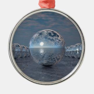 Spheres In The Sun Metal Ornament