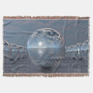 Spheres In The Sun Throw Blanket