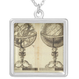 Spheres of the Globe Silver Plated Necklace