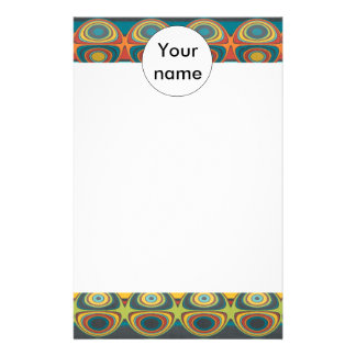 Spheres pattern abstract design stationery