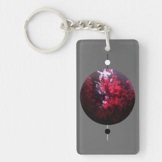 Spheric Balance Double-Sided Rectangular Acrylic Keychain
