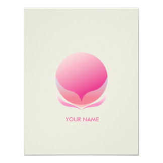 SPHERICAL FLOWER COMPLIMENT CARD PINK