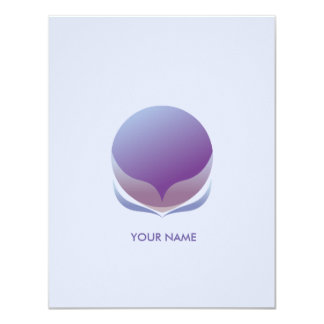 SPHERICAL FLOWER COMPLIMENT CARD PURPLE
