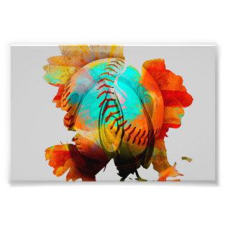 Spherical Mixed Flower, Energized Photo! Photo Print