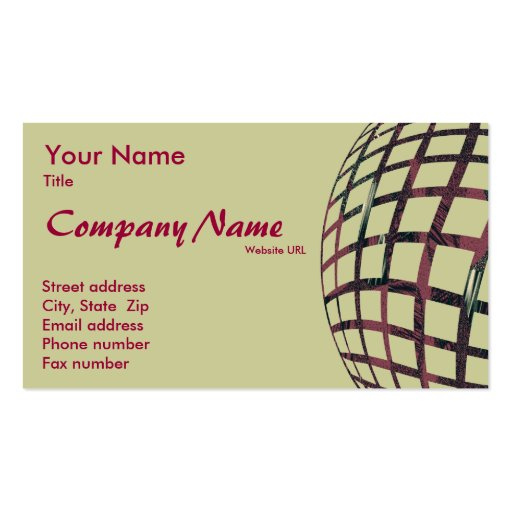 Spherically Clear Business Card Template