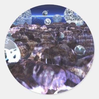 Spheroid Assault Classic Round Sticker