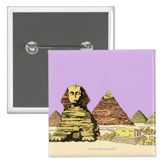 Sphinx and a Pyramid Button